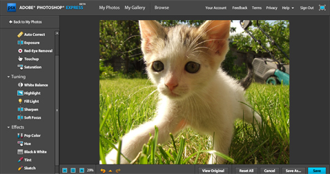 Nowy Photoshop Express!